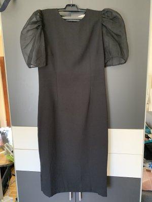 Black organza dress