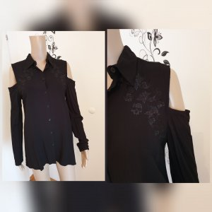 Black Premium by EMP Hemdblouse zwart Katoen