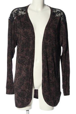 Black Premium by EMP Cardigan bruin-zwart volledige print casual uitstraling