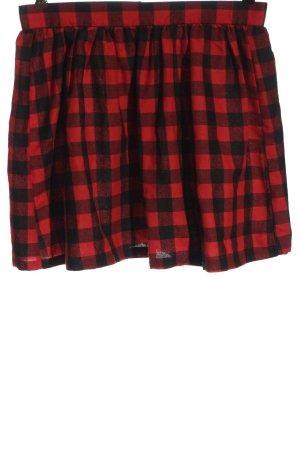 Black Premium by EMP Klokrok rood-zwart geruite print casual uitstraling