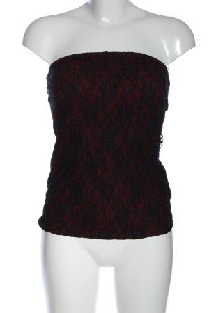 Black Premium by EMP Off the shoulder top rood-zwart bloemenprint