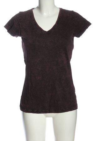 Black Premium by EMP T-shirt roze-zwart gestippeld casual uitstraling