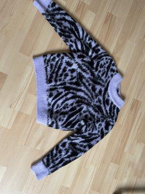 Black Purple Zebra Pullover
