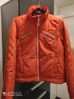 black rivet Quilted Jacket orange