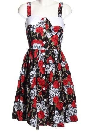 Black Roses Petticoatkleid Allover-Druck Elegant