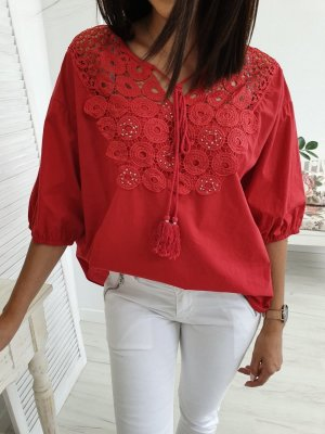 M & V Oversized Blouse red