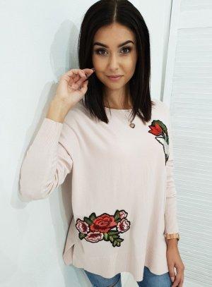 Sweter oversize jasny różowy