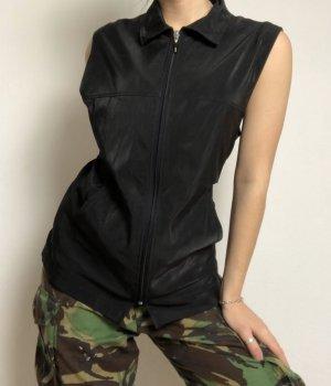black shine weste vest