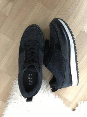 Zara Wingtip Shoes black-white