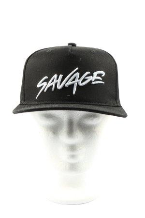 Black Squad Baseball Cap black-white printed lettering casual look