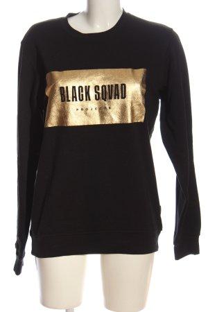 Black Squad Bluza dresowa czarny Wydrukowane logo W stylu casual