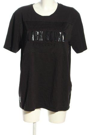 Black Squad T-shirt czarny Wydrukowane logo W stylu casual