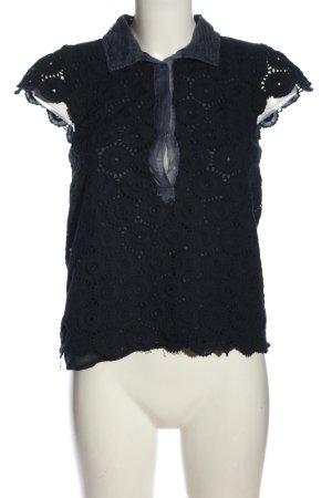 Black Swan Bluzka z krótkim rękawem niebieski Siateczkowy wzór W stylu casual