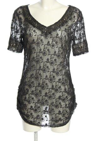 Black Swan Kurzarm-Bluse schwarz Casual-Look
