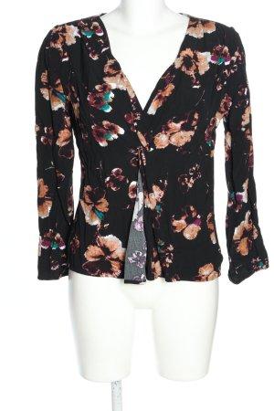 Black Swan Bluzka z długim rękawem czarny-nude Wzór w kwiaty W stylu casual