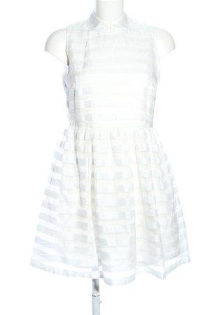 Black Swan Mini Dress white striped pattern elegant