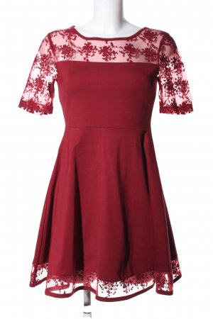 Black Swan Lace Dress red elegant