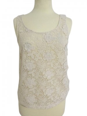 Black Swan Top di merletto crema