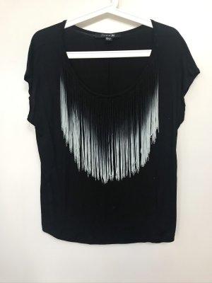 Black & White - Challenge! Fransen-Top Gr.: S