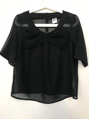 Black & White - Challenge! Transparente Bluse Gr.: S