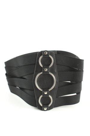 blackbutterfly Cinturón pélvico negro estilo extravagante