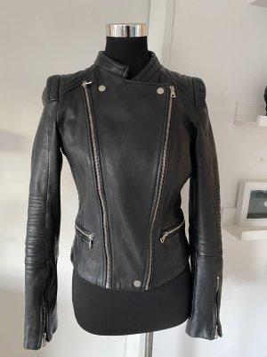 Blackfridaydeal heute ! Zara lederjacke bikerjacke schwarz 40 L Rarität schwarz