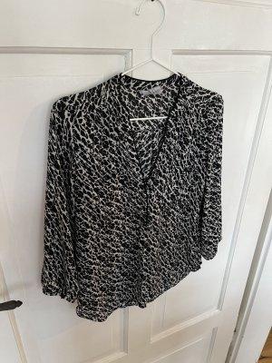 Blacknwhite-Bluse [H&M]