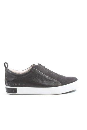 Blackstone Slip-on Sneakers black casual look