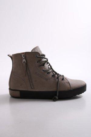 Blackstone Schnür-Stiefeletten schwarz-beige Casual-Look