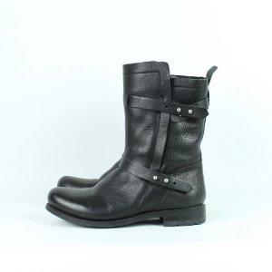 Blackstone Bottes de neige noir cuir