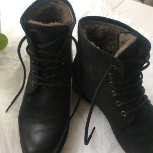 Blackstone Winter boots zwart Leer
