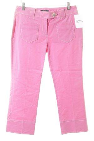 Blacky Dress Pantalone a 3/4 rosa stile casual