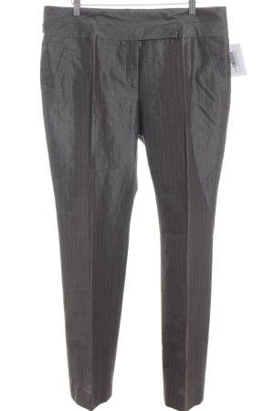 Blacky Dress Bundfaltenhose graubraun Streifenmuster Business-Look