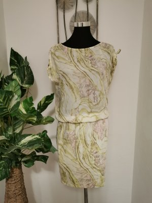 Blacky Dress Damen Kleid Chiffonkleid Blusenkleid grün gemustert Größe 36