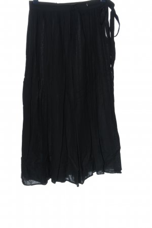 Blacky Dress Gonna a campana nero stile casual