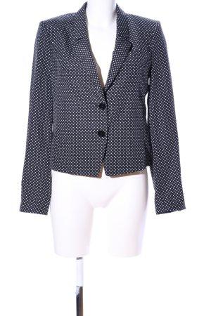Blacky Dress Short Blazer black-white spot pattern business style