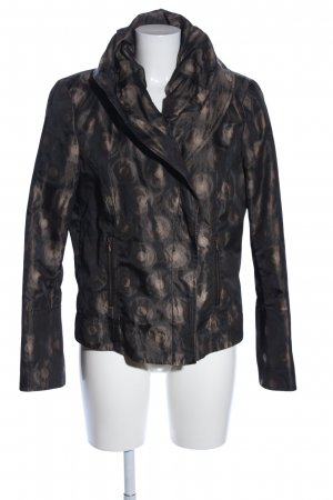 Blacky Dress Korte blazer bruin-wolwit volledige print casual uitstraling