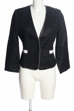 Blacky Dress Korte blazer zwart-wit zakelijke stijl