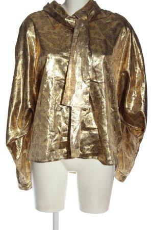 Blacky Dress Bluzka z krótkim rękawem złoto Elegancki