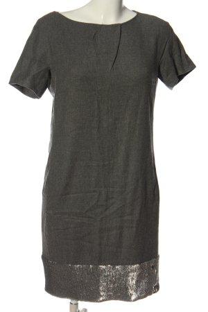 Blacky Dress Abito a maniche corte grigio chiaro-argento puntinato