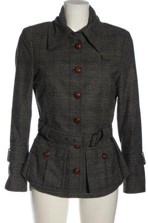 Blacky Dress Kurzmantel hellgrau Allover-Druck Business-Look