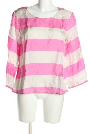 Blacky Dress Bluzka z długim rękawem biały-różowy Wzór w paski