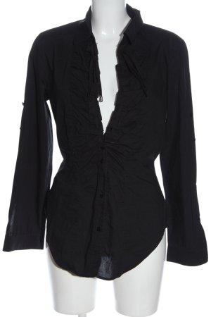 Blacky Dress Camicia a maniche lunghe nero stile casual