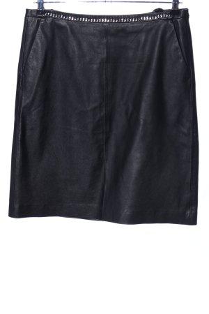 Blacky Dress Jupe en cuir noir style décontracté