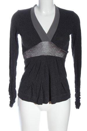 Blacky Dress Manica lunga grigio chiaro puntinato stile casual