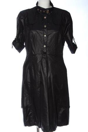 Blacky Dress Robe manteau noir style extravagant