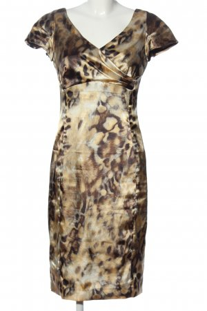 Blacky Dress Abito midi crema-marrone motivo astratto elegante
