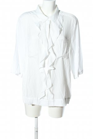 Blacky Dress Blouse à volants blanc style d'affaires