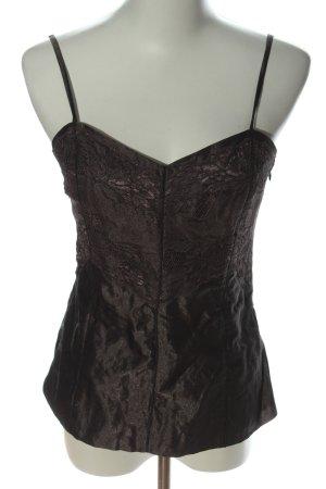 Blacky Dress Haut à fines bretelles brun style mouillé