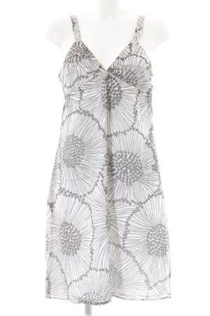 Blacky Dress Trägerkleid weiß-dunkelgrau